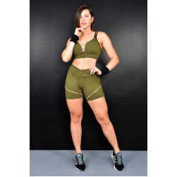 Shorts e Top Army l