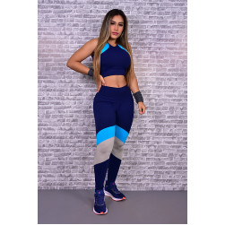 Legging e Top Blue lll